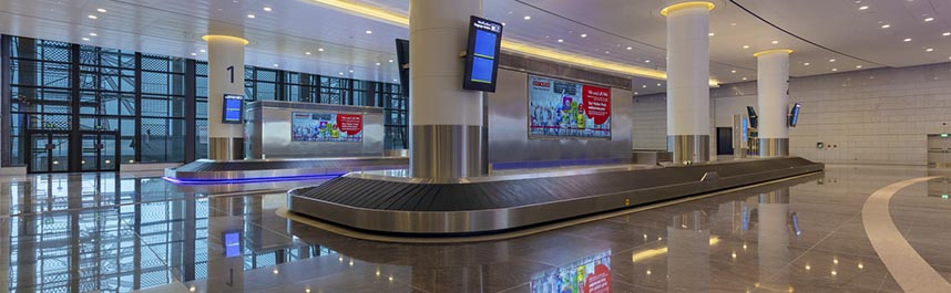 Muscat Airport Baggage reclaim belt